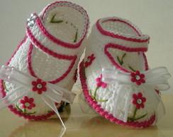Sapatilha Flowers Baby ''Minha Cria��o''