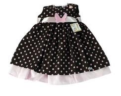 Vestido Infantil Po� marrom 26D1BD