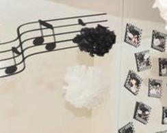Flores em papel de seda