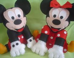 Mickey Minnie Feltro Centro de Mesa
