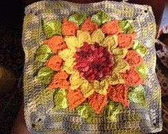 Almofada em crochet