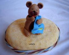 saboneteira em biscuit