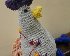 Peso De Porta - Galinha Azul Crochet