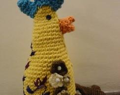 Peso De Porta - Galinha Amarela Crochet