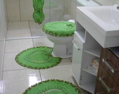 Jogo De Banheiro Cora��o Verde