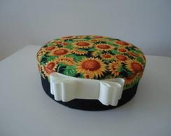 Caixa Forrada com Tecido de Girassol