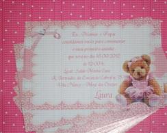 Convite Ursa Bailarina floral