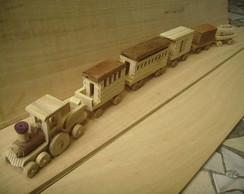trenzinho de madeira comboio