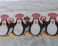 Pano de copa pinguim em patchwork