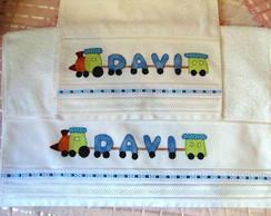 Jogo de toalha em patchwork