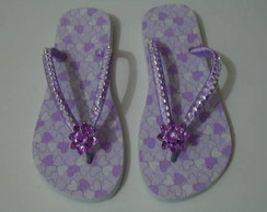 Chinelo Lil�s Com Strass