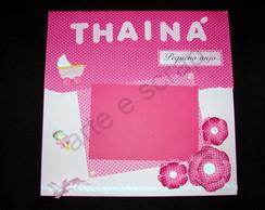 Quadro de scrapbook Thain�