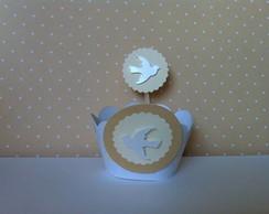 Comunh�o e Batizado forminha de cupcake