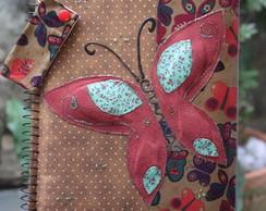 Caderno Borboleta Voando na Esquina