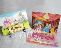 Convite Princesas Pop Up - Grande