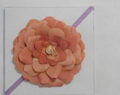 quadro rosa com coador caf� 30 x 30