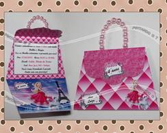 Convite Bolsinha - Barbie Moda e Magia