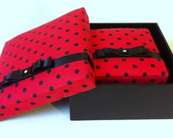 Duo caixas mdf forradas com tecido