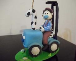 Topo Trator com fazendeiro
