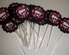 Topper para cupcake monster high