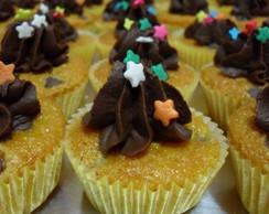 Mini cupcake de cenoura com chocolate