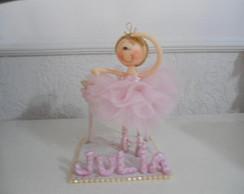 topo de bolo de bailarina