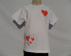 Camiseta Love  - Dispon�vel: 2, 4, 6, 8