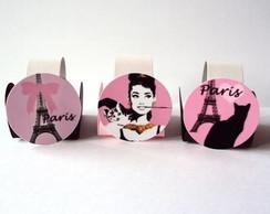 Forminhas tema Paris  - rosa
