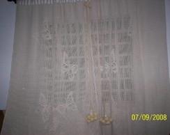 cortina em croch� - borboletas