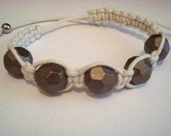 Pulseira Shamballa White and Brown