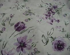 038- Jogo De Len�ol Solt Floral Lil�s