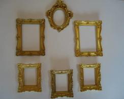 Molduras Proven�ais douradas c/espelhos