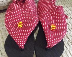 Sand�lia customizada em Tecido