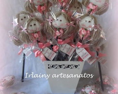 Kit L�pis Decorado Boneca