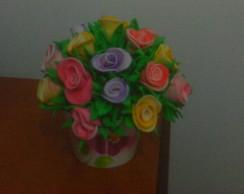 flores de EVA, buqu� de EVA, bolos perso