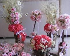 Conjunto de flores secas para festas IV