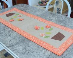 Trilho de mesa c/ flores