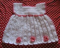 Vestido  infantil  croch�
