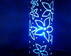 Lumin�ria em PVC Floral Estrela