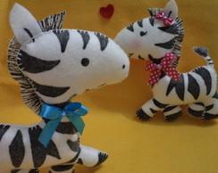 Prendedor de cortina casal de Zebras