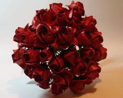 Buqu� De Noiva Vermelho - Origami