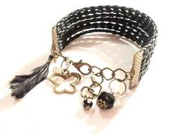 Pulseira em couro estilo bracelete