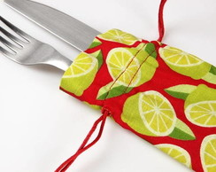 Kit com 04 porta talheres de tecido