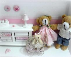 Quadro Fam�lia de Ursos com Carrinho