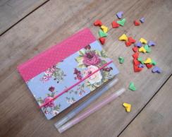agenda 2014 tecido rosas vintage