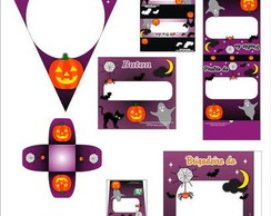Kit festa personalizada halloween