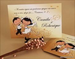 CONVITE DE CASAMENTO - Modelo Camila