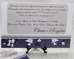 Convite De Casamento - Modelo Clara