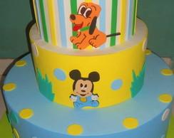 Bolo falso - Mickey Baby