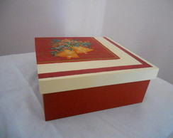 Caixa Decorada Natalina -MDF